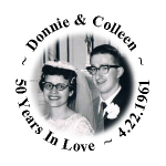 Personalized Photo 25th 50th Anniversary Hershey Kisses Stickers