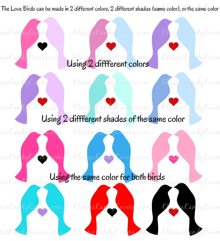 Kisses Wedding - KISS LoveBirds 4 - Choose Your Colors!!