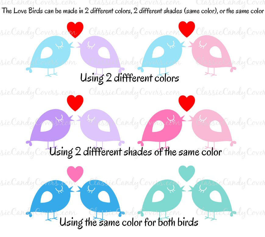 Kisses Wedding - KISS LoveBirds 3 - Choose Your Colors!!