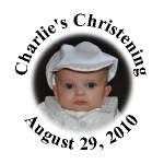 Personalized Photo Baptism Christening Hershey Kisses Stickers