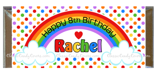 CWBD - Rainbow Birthday Wishes Candy Bar Wrappers