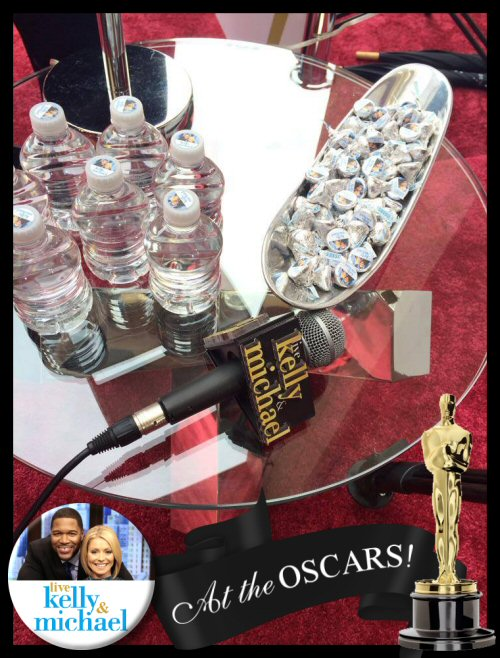 Personalized Hershey Kisses on the Red Carpet Oscars