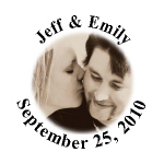 Personalized Photo Wedding Hershey Kisses Stickers