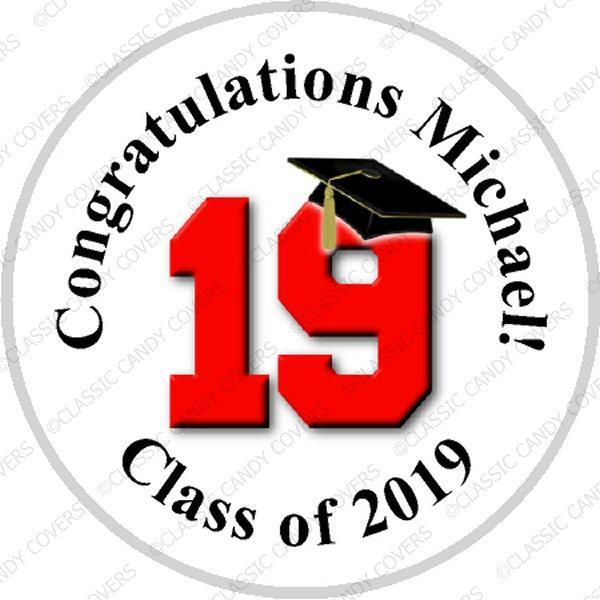 Hershey Kisses Graduation - KISS Class of 2019 - ALL SCHOOL COLORS!!