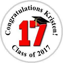 Hershey Kisses Graduation - KISS Class of 2017 - ALL SCHOOL COLORS!!