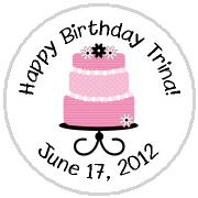 Personalized Birthday Cake Hershey Kisses Stickers Labels