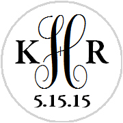 hershey kisses wedding monogram initials choose your color